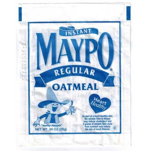 Holmes Maypo Regular Instant Oatmeal Cereal, 0.98 Ounce -- 48 per case.