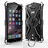 Iphone 6 6s plus Case, bpowe Hollow Design Full Signal Thor Case, Aviation Aluminum Anti-scratch Strong Protection Metal Hard Rugged Case for Iphone 6/6s plus 5.5inch (black/black)
