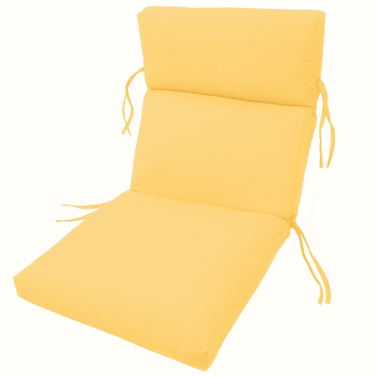 Comfort Classics Inc. Sunbrella Outdoor CHANNELED Chair Cushions 22W x 44L x 3H Hinge at 24 in Buttercup