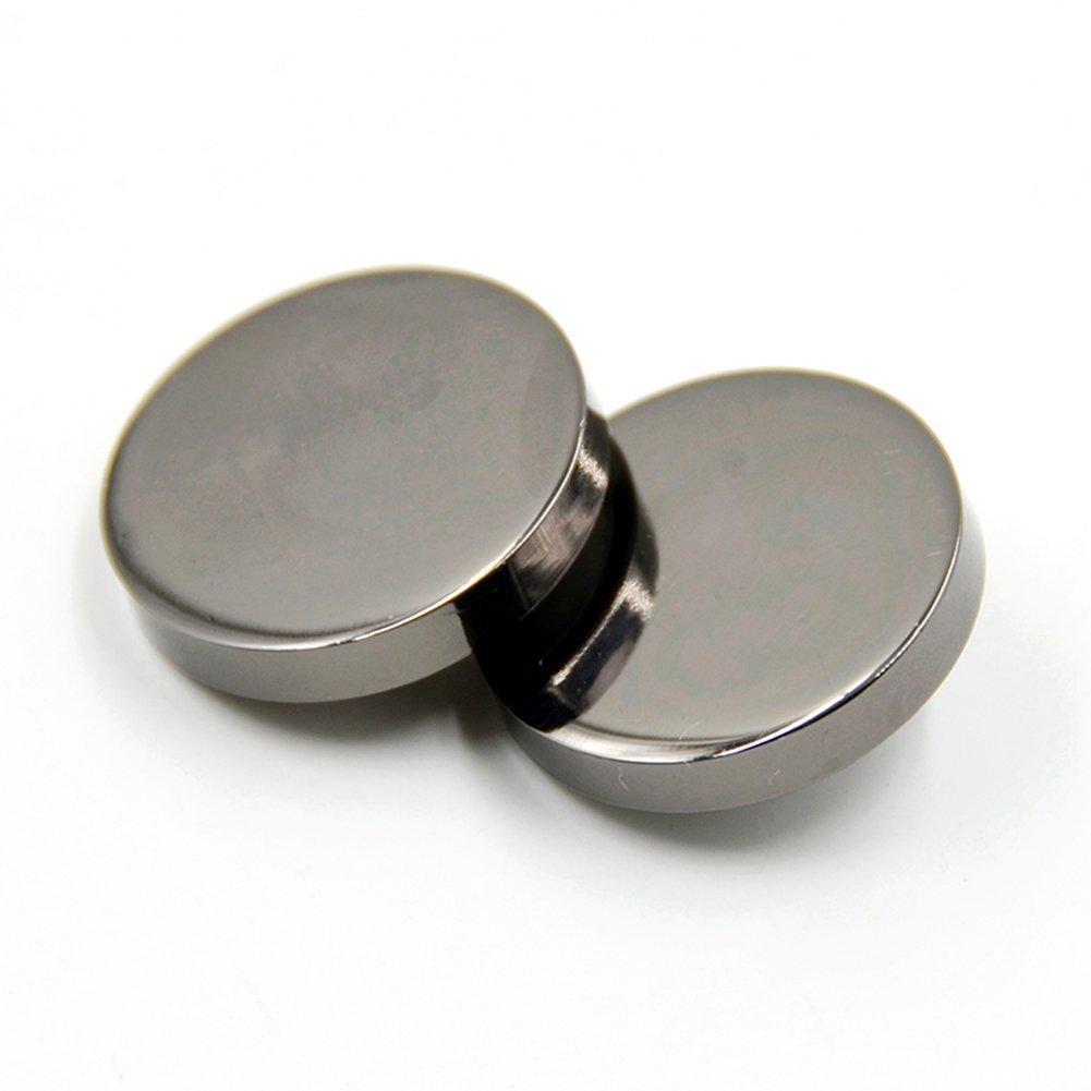 10PCS Metal Flat Button Women Suit Woolen Coat Button Male Jacket Button Shirt Suit Trousers Button Round Shaped Sewing Button 10mm Gold