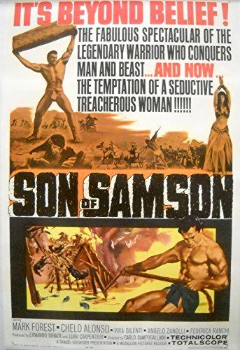 (SON OF SAMSON MOVIE POSTER-Mark Forest Sword and Sandal Gladiator Film-1962)