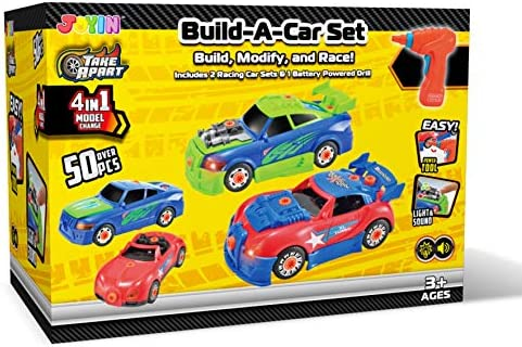 Build Your Own Camaro >> Joyin Take Apart Toy Racing Car Construction Toys Build Your Own Race Car Set With Light And Sound Real Working Drill And Screws Over 50 Pieces