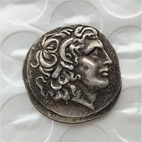 Rare Antique Ancient Alexander III The Great 336-323 BC Drachm Silver Color Coin