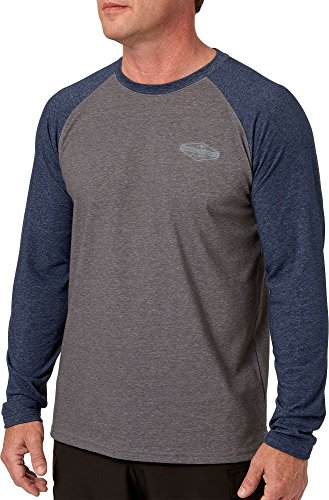 Field & Stream Men's Deep Runner Long Sleeve Raglan Tee (University Navy/Charcoal, - Field Raglan