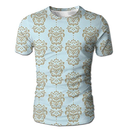 Edgar John Floral Pattern in Nostalgic Tones with Effects Out of Date Style Men's Short Sleeve Tshirt L