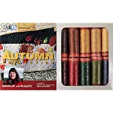 Aurifil Thread Set AUTUMN COLLECTION By Sheena Norquay 50wt Cotton 10 Small (220 yard) Spools