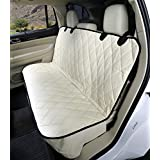 4Knines Fitted Rear Bench Seat Non-Slip Cover (Regular, Tan)