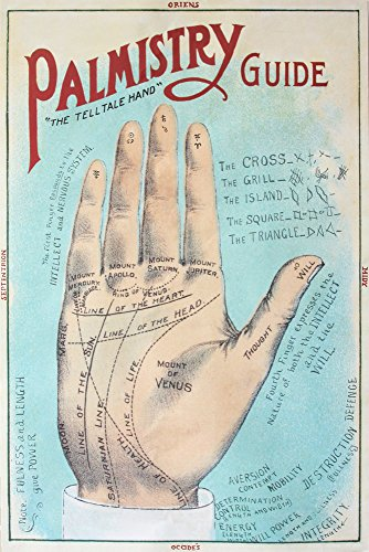 A Picture of Good Health - Vintage Palmistry Chart Lithograph (16x24 Fine Art Giclee Gallery Print, Home Wall Decor Artwork -