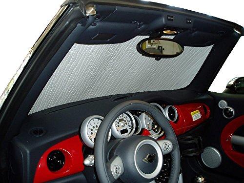 - The Original Windshield Sun Shade, Custom-Fit for Mini Cooper Convertible 2005-2013, Silver Series