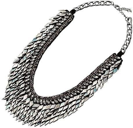 Abbott Collection 51-NOIR-NK-12602 Black Diamond Fringe Necklace-20 L