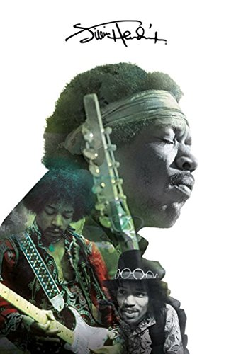 Pyramid America Jimi Hendrix Double Exposure Music Poster inch