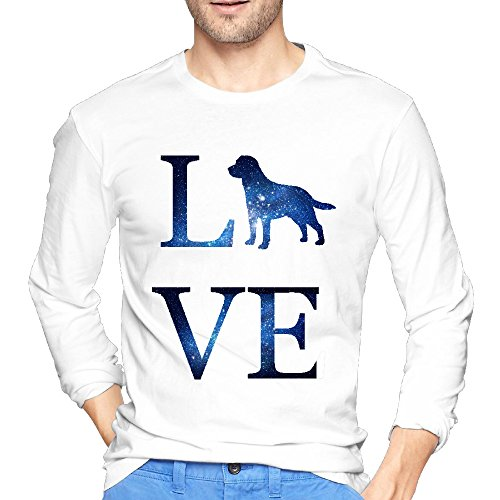 Mens Love Labrador Retriever I Love Dog Cherished O Neck Long Sleeve Shirt