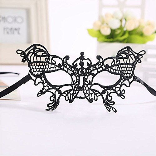 ABASSKY Masquerade Lace Mask Catwoman Halloween Cutout Prom Party Mask Accessories HOT ()