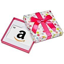 Amazon.ca $50 Gift Card in a Polka Dot Box (Classic White Card Design)