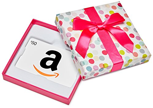 Amazon.ca $50 Gift Card in a Dot Box (Classic White Card Design)