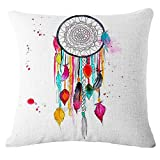 Mlide Color Graffiti Pillowcase Personalized Sofa Car Waist Throw Cushion Cover Square Home Decorative Upholstery Throw Pillow Covers45cmx45cm (F1)