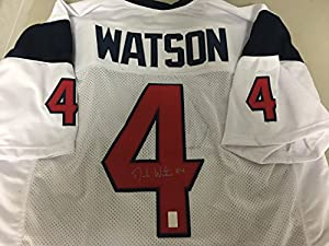Deshaun Watson Autographed Signed Houston Texans White Jersey Watson GTSM Player Hologram