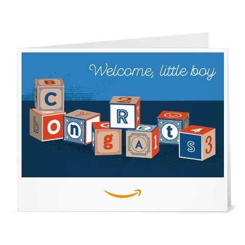 Amazon Gift Card - Print - Baby Boy Blocks