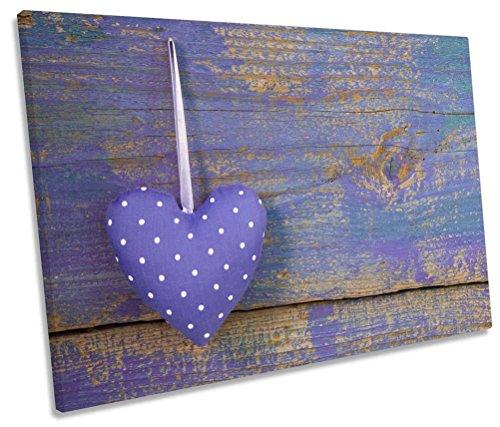 Canvas Geeks - Shabby Chic Heart - CANVAS WALL ART Print