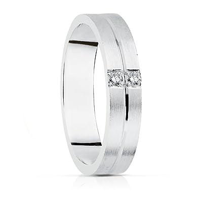 41ebf5588395 Alianza Diamantes Camilla 4 mm Oro blanco 18k - Personalizable ...