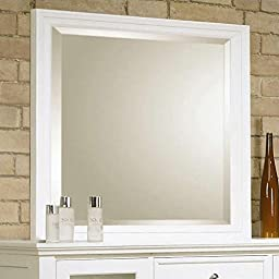 Coaster Home Furnishings 201304 Country Mirror, White
