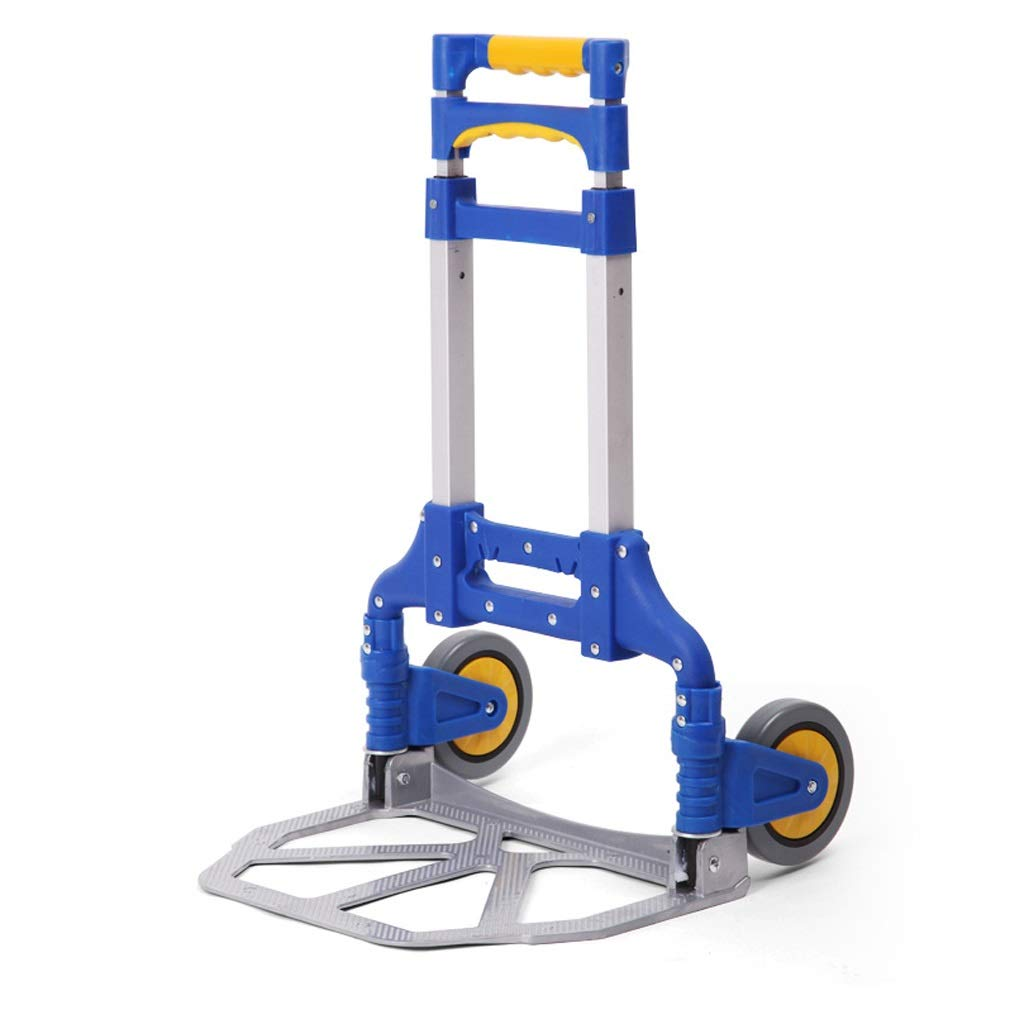 Xilinshop Portable Utility Carts Pull Goods Small Pull Cart Folding Portable Small Trailer Home Shopping Trolley Car