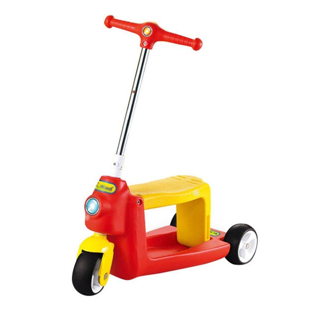人気ブランドの 折りたたみ式のスクーター調節可能な子供折りたたみ式の歩行器多機能スライドの車のPUの車輪は3-10歳に座ることができます(625** 225 225* 660ミリメートル) B07FYLRSML B07FYLRSML Red, トヨタムラ:c6d8526d --- a0267596.xsph.ru