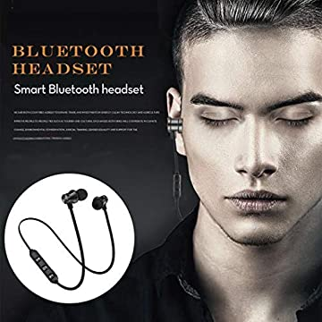 Erholi Bluetooth Headphones,Qualteus Magnetic Wireless Earbuds, 4.1,8H HiFi Stereo in-Ear Sweatproof IPX6 Sport Headsets for Gym Workout Earphon Corded Headsets