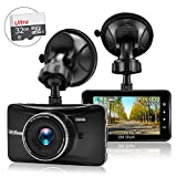 OldShark 3 Inch 1080Px Dash Cam with 32GB Card