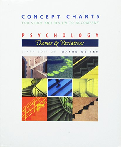 Concept Charts for Study and Review to Accompany Psychology- Themes and Variations, 6th Edition