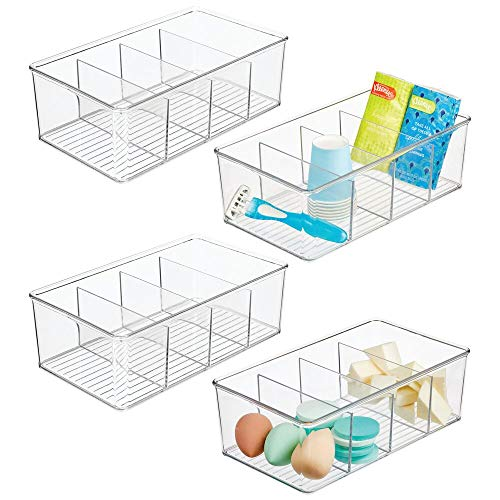 mDesign Plastic Bathroom Storage Organizer Bin Box