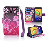 for ZTE N818S QLink Wireless Case Wallet Grip Kickstand Pouch Pocket Purse Screen Flip Cover for ZTE Sapphire 3g (Heart)
