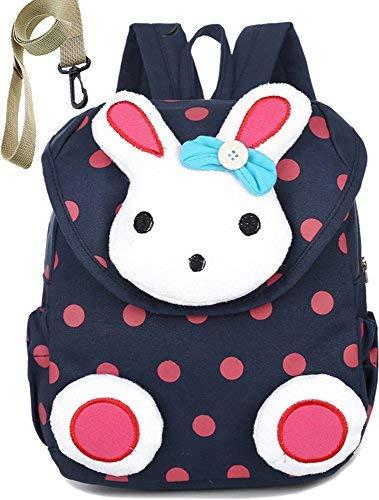 Mochila infantil con arnés de seguridad, correa de conejo, conejo, chica menor de 3 años, Color-A-Blue, Una talla