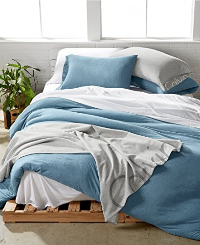 Ocean Calvin Klein - CALVIN KLEIN - Modern Cotton Body Ocean Blue Full/Queen Duvet Cover