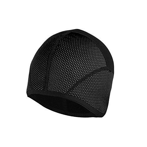 TOFERN Unisex Autumn Winter Cycling Beanie Bandana Hat Helmet Liner Skull Cap Rainproof Windproof, Black L (Head Circumference 58-62cm)