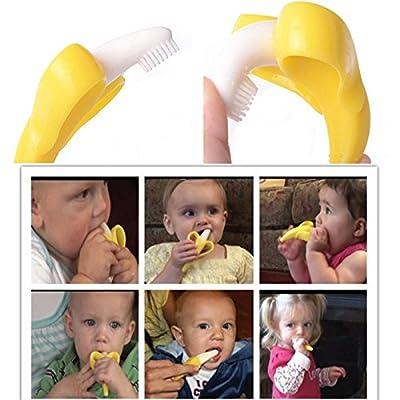 Baby Toddler Toothbrush Silicone Training BPA Free Banana Shape Teether Toy : Baby