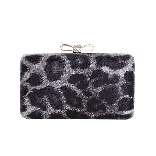 Elegant Leopard Leather Crystal Evening product image