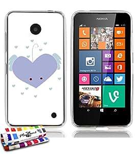MUZZANO-Carcasa ultrafina para NOKIA LUMIA 630, color negro blanco y negro () de calidad superior, diseño ultrafino coeur_bleu protección contra los impactos, ELEGANTE, resistente, 1 lápiz óptico y 1 gamuza de limpieza MUZZANO, compatible con Nokia Lumia 630, color negro