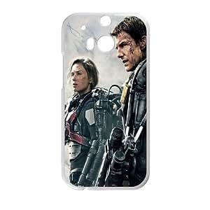 901 Edge Of Tomorrow 2014 L funda HTC One M8 caja funda del teléfono celular del teléfono celular blanco cubierta de la caja funda EVAXLKNBC20158