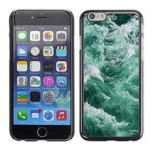 X-ray Impreso colorido protector duro espalda Funda piel de Shell para Apple iPhone 6 Plus(5.5 inches)- Waves Sea Foam Teal Green Water