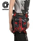 Search : Punk Women Men Skull Waist Bags Vintage Crossbody Motorcycle Leather Leg Bag