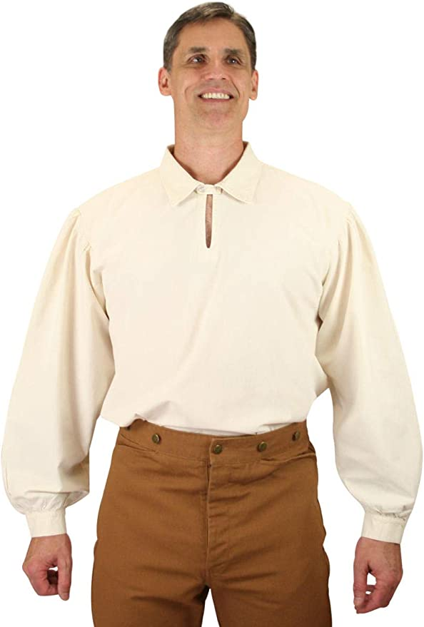 Men's Steampunk Clothing, Costumes, Fashion Historical Emporium Mens Trapper Cotton Work Shirt $66.95 AT vintagedancer.com