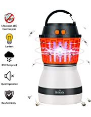 Homecube Bug Zapper, 2 in 1 Night LED Light Bulb Lamp & Mosquito Killer Repellent, IP67 Rainproof Charge Via USB, Portable For Indoor & Outdoors, Home & Traveling