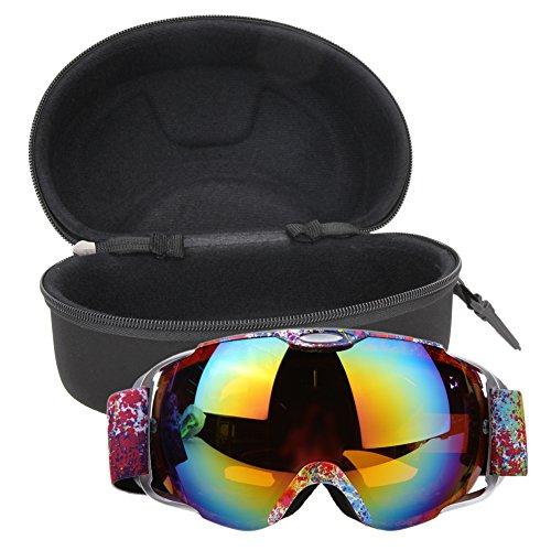 Professional Ski Goggles Double Layers Lens UV400 Anti-fog Big Ski Mask Glasses - Oakly Googles