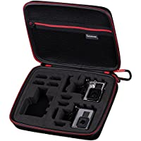 Smatree® SmaCase G260sw Carrying Case for Gopro Hero 5,4, 3+, 3, 2,1 (Camera and Accessories NOT included)-Black&Red