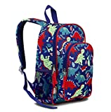 LONECONE Kids' Canvas Preschool Backpack - School Bag for Little Boys and Girls, Pack-O-Saurus