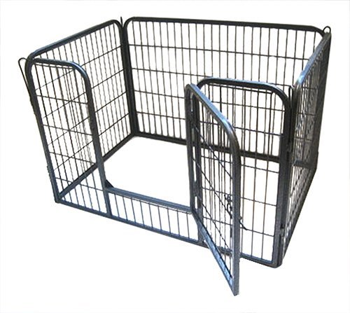 BUNNY BUSINESS Heavy Duty Puppy Play Pen/Rabbit Enclosure, Large, Gunmetal Grey by BUNNY BUSINESS (Image #1)