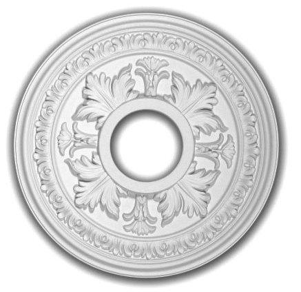 15 Inch Diameter Ceiling Medallion White Primed Polyurethane By Designer's Edge Millwork #D514 - Ceiling Medallion 16 Inch
