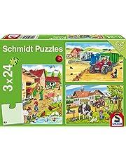 Schmidt - SCH-56216 - Op de boerderij 3 x 24 stukjes Puzzel - vanaf 3 jaar - dieren puzzel