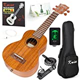 Ukulele Soprano Mahogany 21 Inch Ukelele Uke With Beginner Kit ( Gig Bag Tuner Strap String Instruction Booklet )